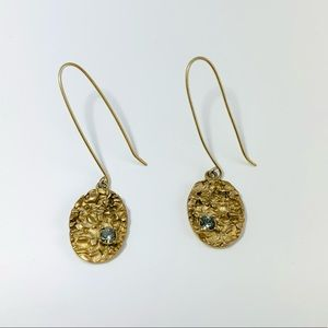 KENNETH COLE Gold And Crystal Drop Earrings